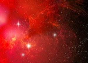 Red space nebula by PJuric on DeviantArt