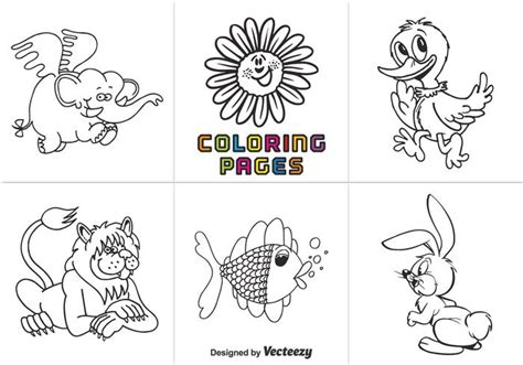 animal coloring pages vector   vector