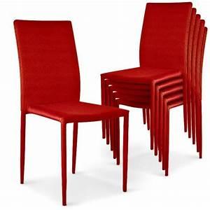Lot De 6 Chaises Salle à Manger : lot de 6 chaises empilables modan rouge achat vente chaise salle a manger pas cher couleur ~ Teatrodelosmanantiales.com Idées de Décoration