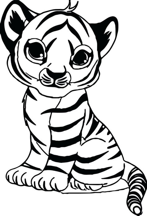coloring pages  cute tigers tiger color sheet  baby