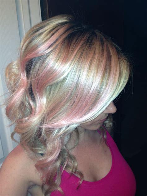light pink highlights light pink highlights hair www imgkid the