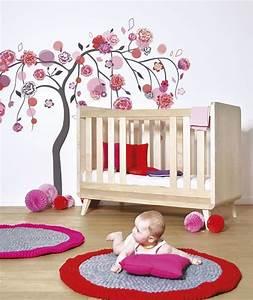 Stickers Arbre Chambre Bébé : sticker arbre rose et rouge d coration chambre enfant ~ Melissatoandfro.com Idées de Décoration