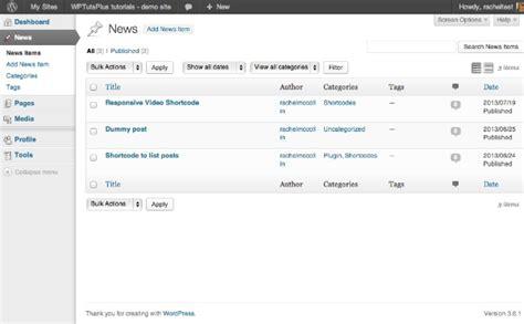 Customizing The Wordpress Admin