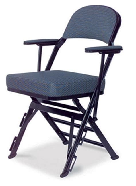 clarin manual uplift seat folding chair with arm rests