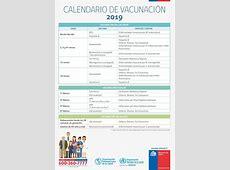 Calendario Vacunas MINSAL Chile 2019 EnfermeriaAPS