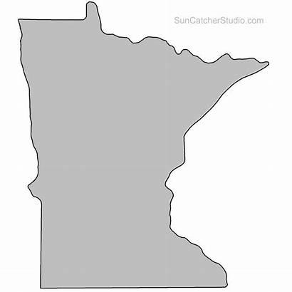 Minnesota Outline State Map Clip Shape Stencil