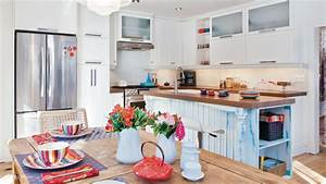 cuisine blanc et bleu les idees de ma maison With cuisine bleue et blanche