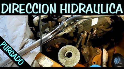 cambio completo de liquido de direccion hidraulica