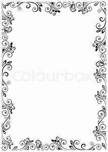 floral vector frame format a4 stock vector colourbox With frame for letter size paper