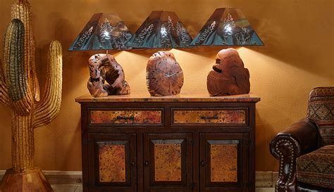 mesquite table lamps  copper shades colorado classics