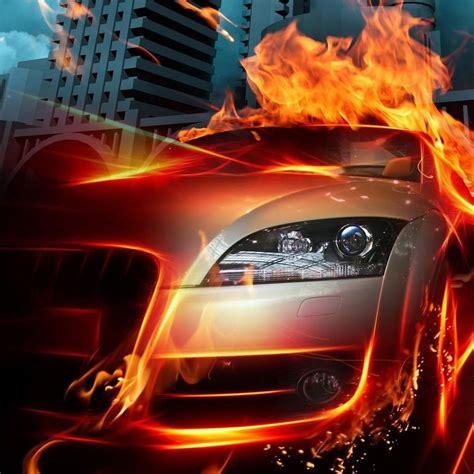 flaming car hd desktop wallpaper unique car wallpapers