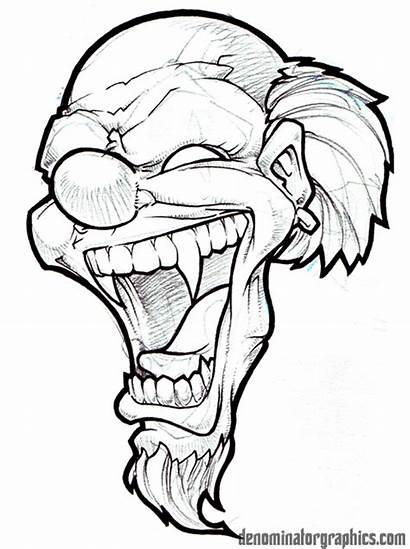 Clown Laugh Drawings Evil Cry Later Devil