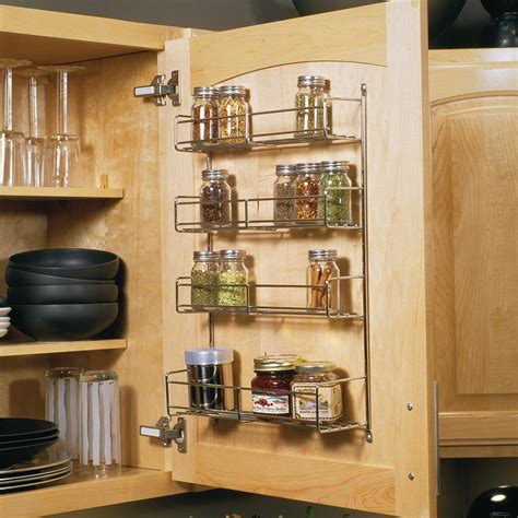 Door Spice Rack Organizer by Knape Vogt 20 In X 10 81 In X 3 88 In Door Mounted