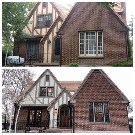 Great Exterior Update Of Tudor Home  E X T E R I O R S