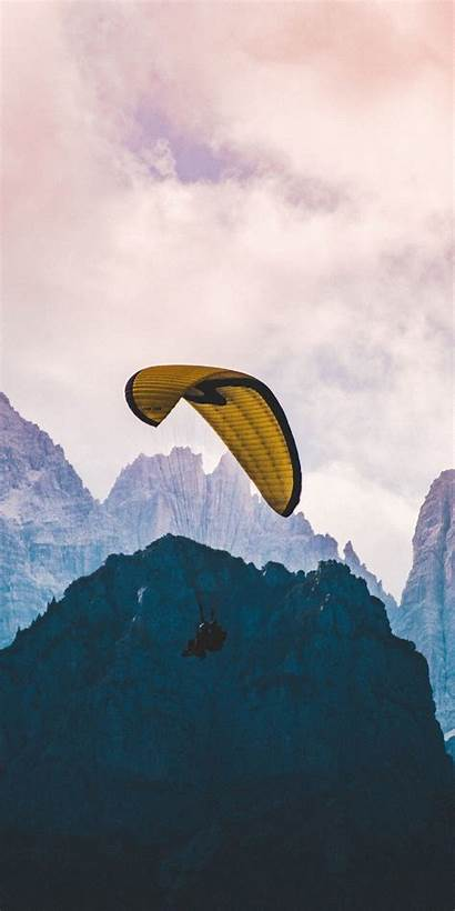 Paragliding Cliffs Mist Clouds