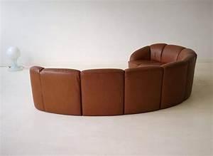 Lounge Sofa Leder : half round leather lounge sofa by walter knoll 1960s at ~ Watch28wear.com Haus und Dekorationen