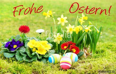 bilder mit frohe ostern quot ostern easter frohe ostern schrift osterkarte ostereier fr 252 hlingsblumen wiese