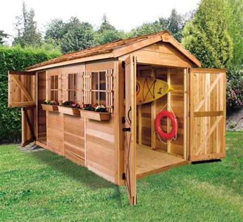 The Cedar Shed - small boat house boathouse plans kayak shed canoe