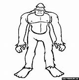 Bigfoot Coloring Pages Sasquatch Cryptids Printable Outline Drawing Draw Colouring Monster Thecolor Finding Silhouette Drawings Tattoo Sketches Monsters Gel Popular sketch template