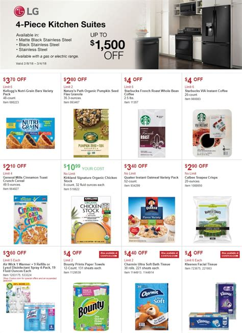 costco sale ad february  march