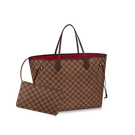 neverfull gm damier ebene handbags louis vuitton
