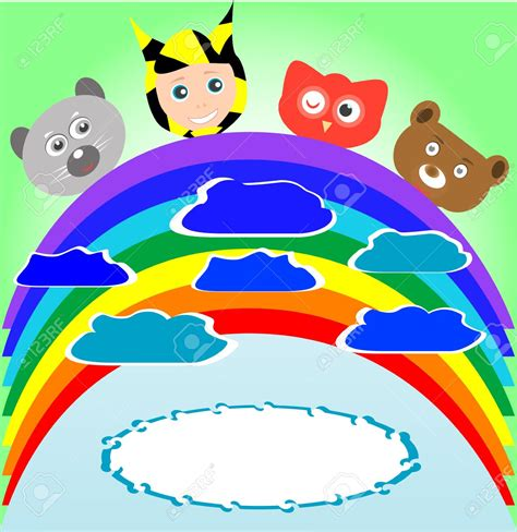 rainbow childrens animal clipart   cliparts