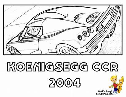 Coloring Pages Koenigsegg Cars Super Yescoloring Ccr