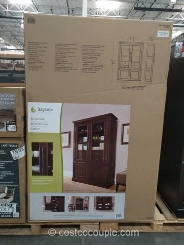Costco Bayside Bookcase by Bayside Furnishings Glass Door Bookcase