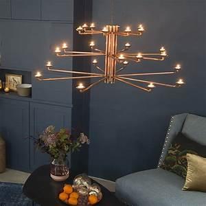 Lustre En Cuivre : un lustre en tuyaux de cuivre marie claire ~ Teatrodelosmanantiales.com Idées de Décoration
