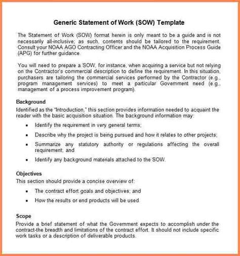 statement of work template for professional services statement of work template consulting scope 31 word documents for achievable representation