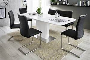 Abra, White, Lacquered, Extendable, Dining, Table, -, Dining, Tables, 3584