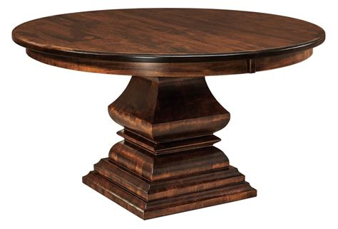 solid wood round dining table amish traditional round pedestal dining table 54 quot 60
