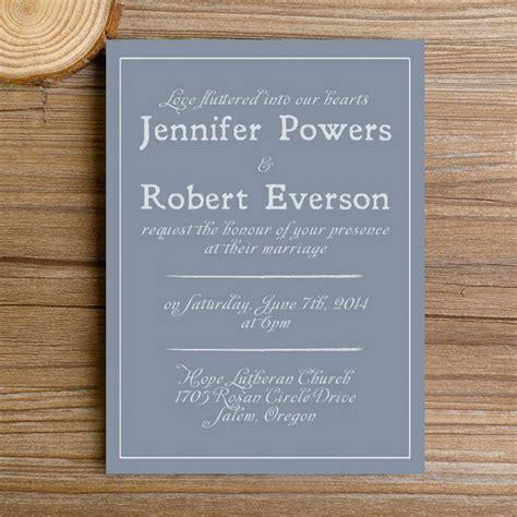 modern dusty blue simple wedding invitations ewi384 as low as 0 94