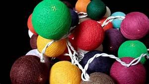 Guirlande Boule Lumineuse : fabrication d 39 une guirlande lumineuse de boules de coton asia zen youtube ~ Teatrodelosmanantiales.com Idées de Décoration