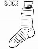 Coloring Socks sketch template