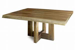 Contemporary rectangle unfinished reclaimed wood table for for Wooden dining tables