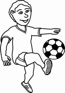 Soccer Player Outline Clip Art at Clker.com - vector clip ...