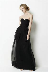 elegant collection of long black bridesmaid dresses With long black dress for wedding