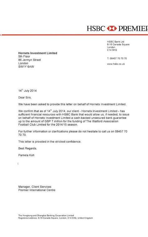 hsbc letter head letter adress
