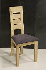 Chaise En Bois Massif : chaise mathis en ch ne massif ligne contemporaine meuble en ch ne massif ~ Teatrodelosmanantiales.com Idées de Décoration