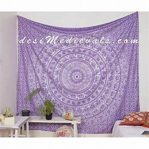 purple Silver Elephant Traditional roomdecor tapestry wall