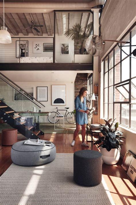 Chic Scandinavian Studio With Lofted Bed by Best 25 Loft Office Ideas On Loft Room