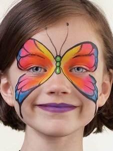 Maquillage Simple Enfant : 40 id es de maquillage papillon au pinceau pour enfants et adultes le body painting ~ Melissatoandfro.com Idées de Décoration