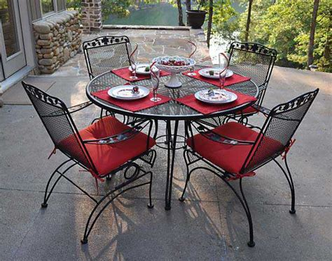 meadowcraft dogwood wrought iron coil dining chair
