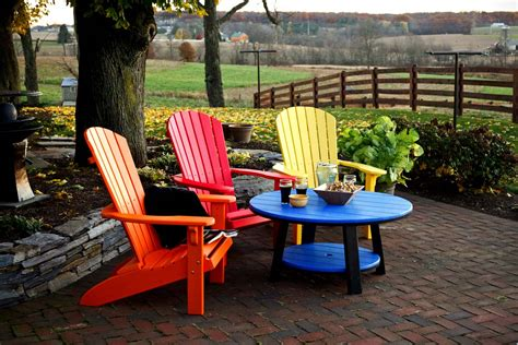 modern style outdoor plastic adirondack chairs with poly
