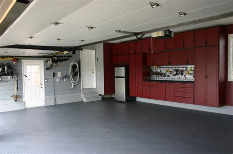 Kitchen Floor Covering Ideas Garage Cabinets Shed Chicago By Pro Storage Systems