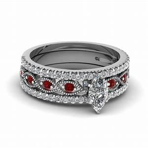 Top styles of ruby engagement rings fascinating diamonds for Ruby wedding band rings