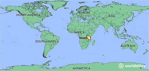 tanzania   tanzania located