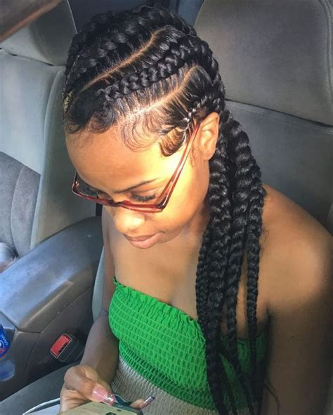 Cornrow With Extensions Hairstyles by Best 25 Big Cornrows Ideas On Big Cornrows