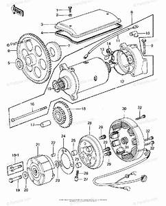 Kawasaki Motorcycle 1978 Oem Parts Diagram For Generator